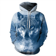 Men Women With Hat Ice Wolf Printed 3d Sweatshirts Autumn Winter Thin Hoody Tops