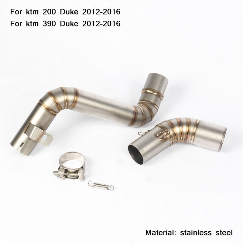 51 мм Средний глушитель из нержавеющей стали для мотоцикла ktm