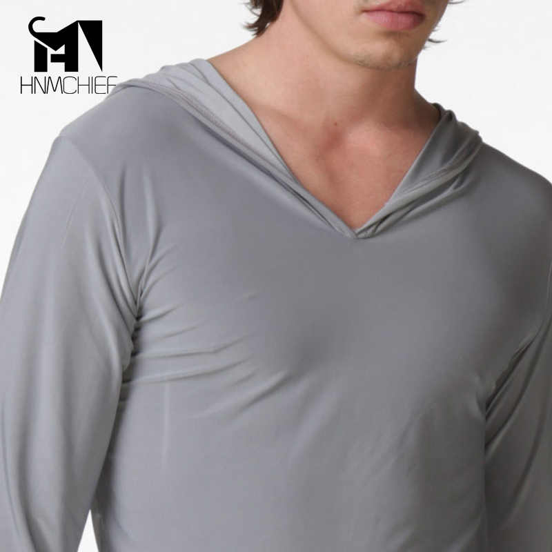 남성용 폴리 에스테르 새틴 잠옷 남성용 투명 실크 셔츠 erotische long sleeve 섹시한 nightwear jacket 편안한 잠옷