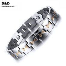 Health Care Magnets Men's Bracelet Bangle High Polished Adjustable Stainless Steel Jewelry For Man SBRM-078