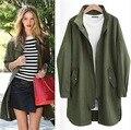 2016 Осень Женщины простой Slim Fit пальто прилив Новые Поступления Женская одежда Мода Повседневная пальто куртки большой размер