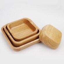 Platz Holz Salatschüssel Große Reis Schüssel Gesunde Natürliche Suppenschüssel Dessertschale Küche Werkzeug Geschirr Geschirr