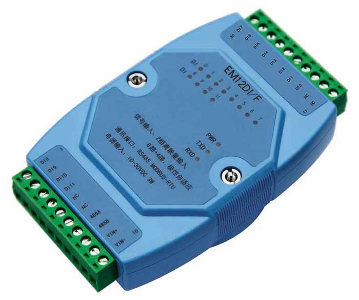 12 way discrete quantity frequency input isolation acquisition switch quantity module RS485 i/o MODBUS