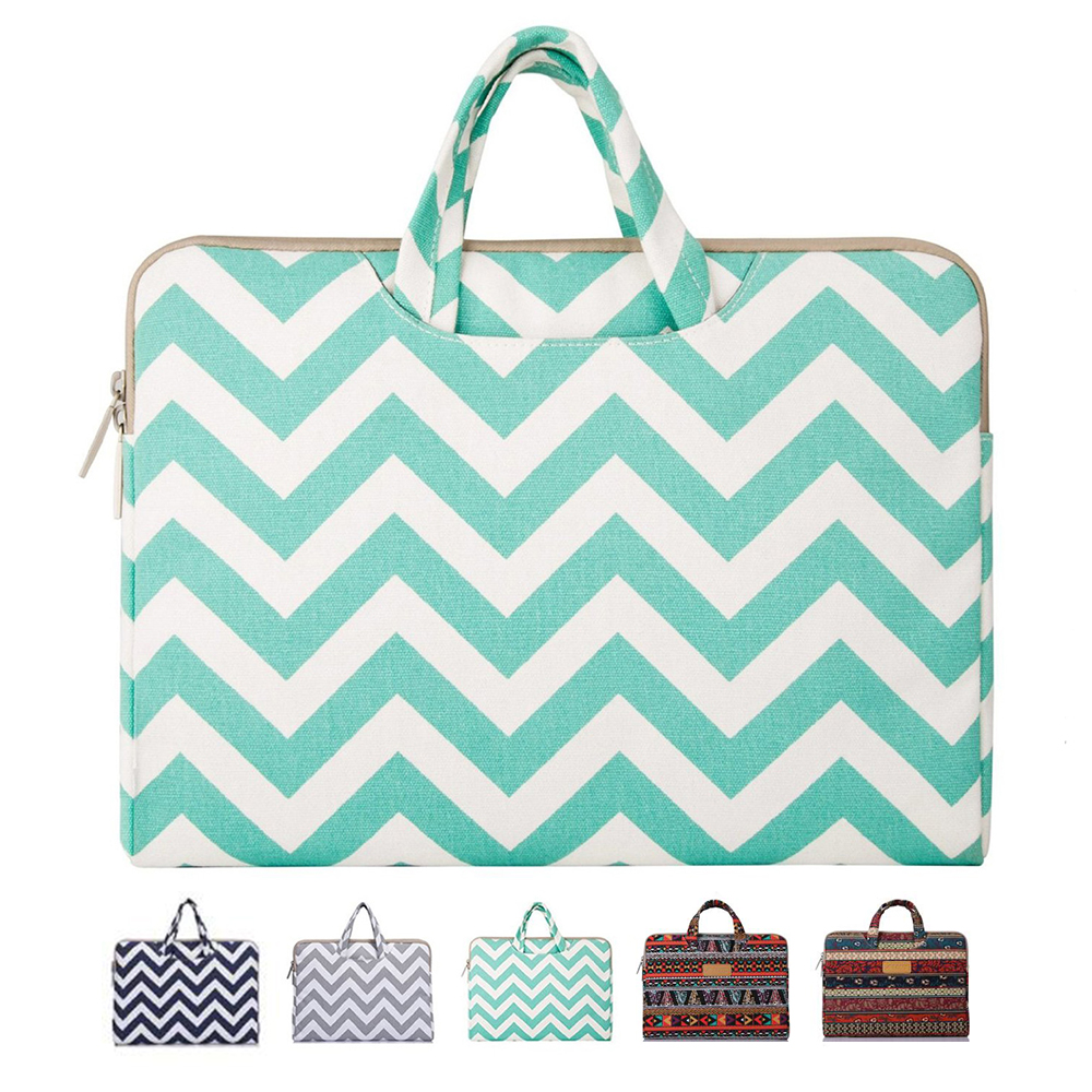 Mosiso Briefcase for Macbook 12 inch Women Chevron Laptop Carrying Bag For Macbook air 13 inch, Mac Pro 13 15 inch
