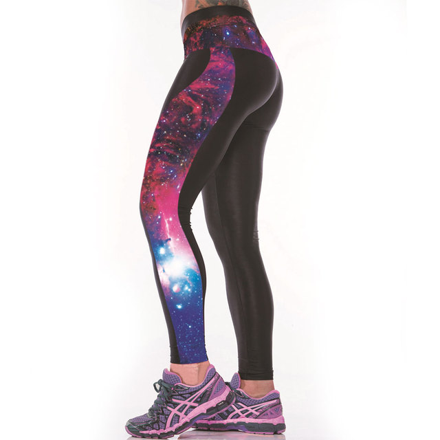 e9aefd41e934d 3D Star Galaxy Print Women Sexy Fitness Leggings Sportswear Body Building  Clothes Punk Rock Pants Ropa