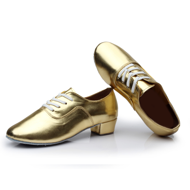 743b511198 US $14.85 55% OFF|Brand New Soft Sole Men's Children's Ballroom Latin Tango  Dance Shoes Heeled Sales Black White Silver Gold Color Wholesale-in Dance  ...