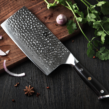 2019 XINZUO 7'' inch Cleaver Knife Kitchen Japanese Damascus Steel Chopping Meat Vegetable Chef Knives Cooking Tool Accessories