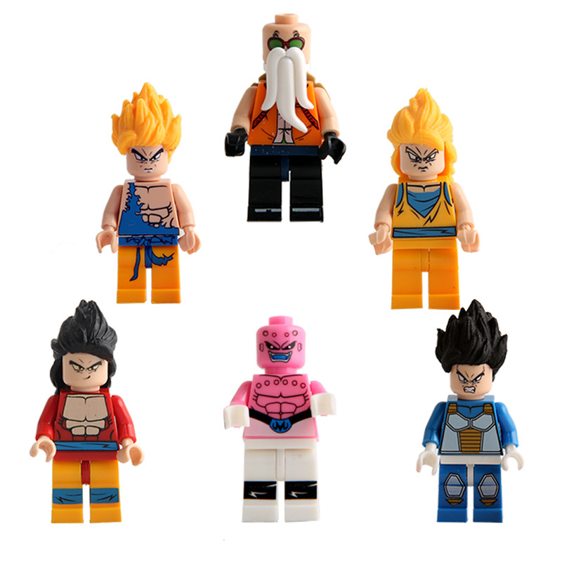 Hot Sale 6Pcs/lot JLB 5PCS/SET Seven Dragon Ball Building Toys Toys Puzzle Building Blocks Models Building Toys