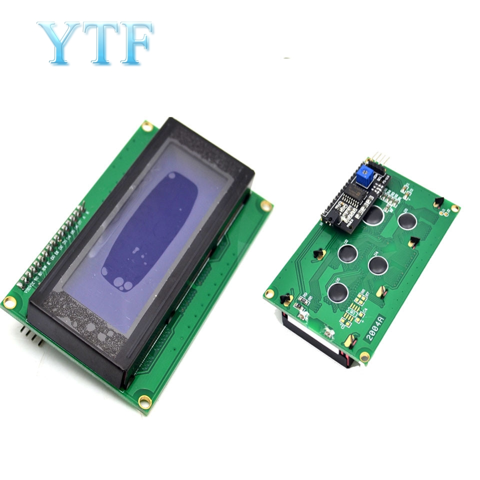 New Electric Unit High Quality IIC/I2C/TWI 2004 204 20X4 Character LCD Module Display For  Blue Serial 60mmX99mm