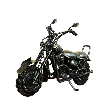 Antique Car Models Iron Crafts Motorcycles Figurines Model Decoration Motorcycle Car Miniatures Office Desktop Home Decor Gifts