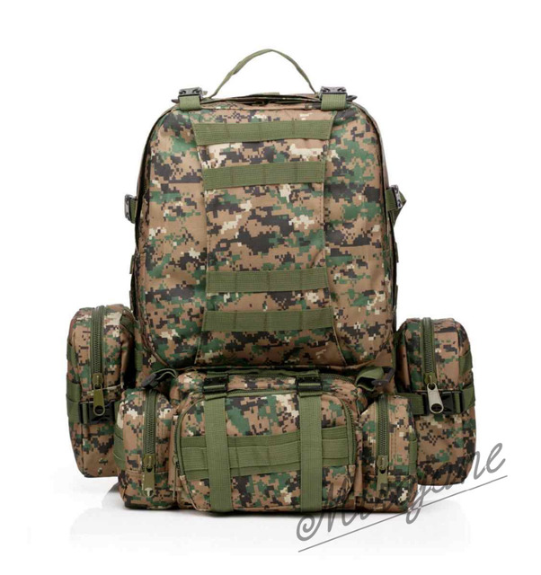 b1b9065cf979 Outdoor 50L Military Rucksacks Tactical Backpack Assault Pack Combat  Backpack Trekking Bag