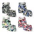 2016 Summer Children'S Clothing Child Boys Sleeveless Vest Short Baby Camouflage Set