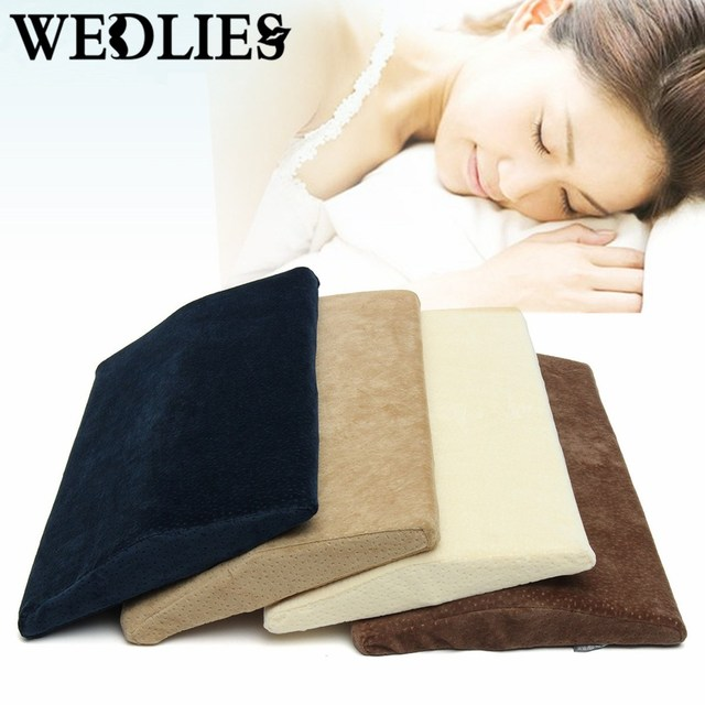 Memory Foam Lumbar Pillow Triangle Sleeping Waist Back Support ...