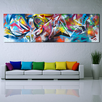 WANG ART Large Size Abstract Oil Paintings Wall Art Picture Home Decor Canvas Print Painting