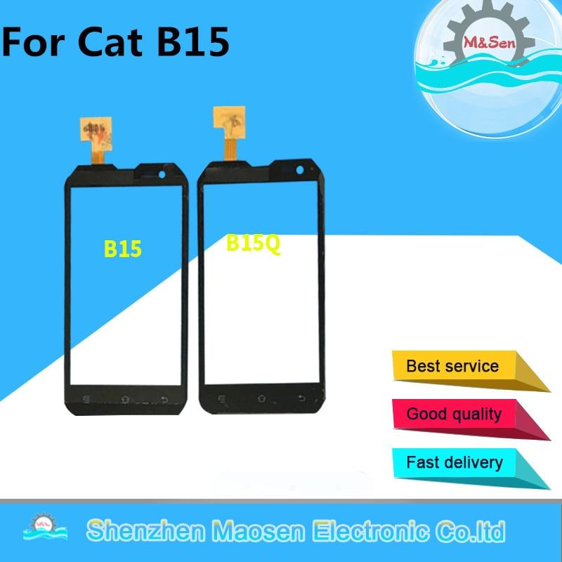 """imágenes para M & Sen Para 4.0 """"Caterpillar CAT B15 o B15Q Pantalla Táctil digitalizador de color negro el envío libre"""