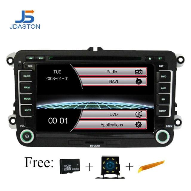 Jaston 2 Din Car Radio For Skoda Seat Volkswagen VW Passat B6 Polo Golf Touran Sharan Jetta Caddy T5 Tiguan Seat Audio GPS Nav