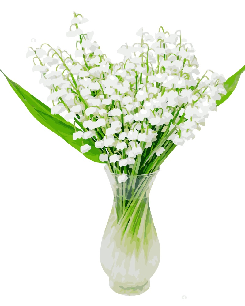 Mahuaf j037 painting by numbers flowers lily of the valley digital mahuaf j037 painting by numbers flowers lily of the valley digital hand painted paint by number canvas painting for home decor in painting calligraphy izmirmasajfo
