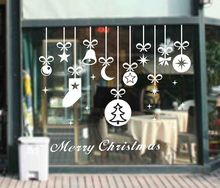 High Quality Merry Christmas Bell Socks Removable Home Vinyl Window Wall Stickers Decal decor DIY Holiday Wall Mural Q-20 цена в Москве и Питере