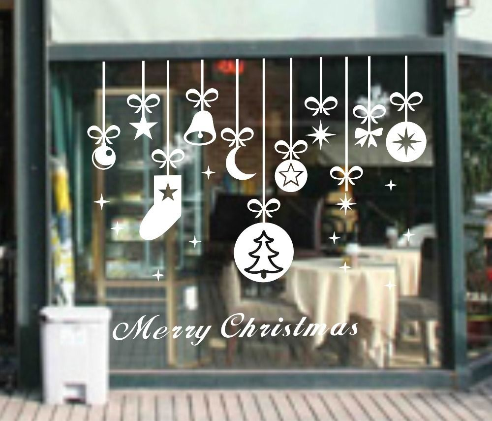 YOYOYU YOYOYU Merry Christmas Bell Socks Removable Home Vinyl Window Wall Stickers Decal ...