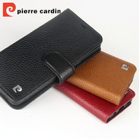 Pierre Cardin For Samsung Galaxy S9 Genuine Leather Luxury Phone Wallet Flip Stand Card Case Cover For S9 Plus Phone Case Cover