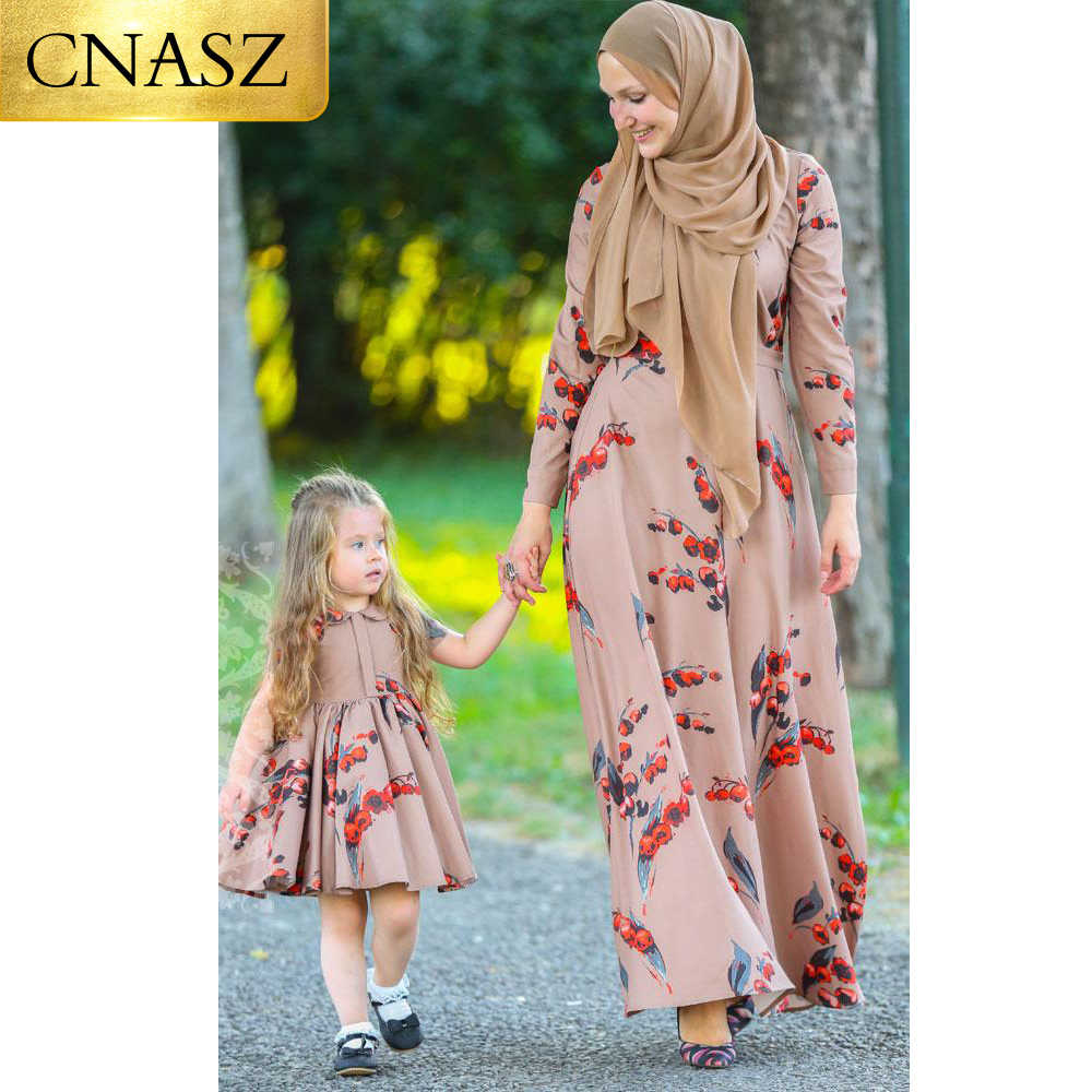 الكرز كم طويل رائجة البيع أزياء متواضعة فستان مسلم رسمي الحجاب رداء دبي الباكستانية للنساء