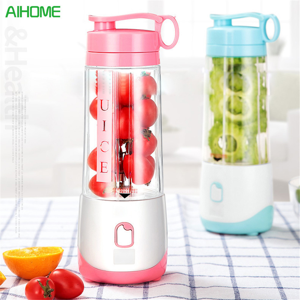 Mini Electric Personal Juicer Sports Bottle Protein Shaker Mixer Smoothie Maker Blender Green Blue