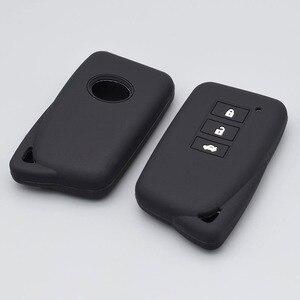 Image 3 - 3/4 כפתור רכב מפתח מגן לקסוס הוא ES GS NX GX RX LX RC 200 250 300 350 2014 2015 2016 סיליקון Keyless fob כיסוי מקרה
