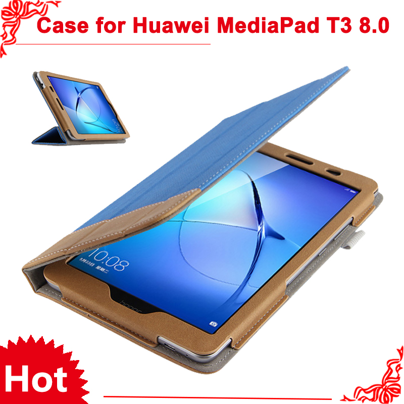 PU leather folio stand cover case for Huawei MediaPad T3 8.0 KOB-L09 KOB-W09 for 8'' Tablet PC for Honor Play Pad 2 8.0 + gifts folio slim cover case for huawei mediapad t3 7 0 bg2 w09 tablet for honor play pad 2 7 0 protective cover skin free gift