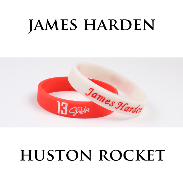 f6ada70c7a4a Hot Sale 2 PCS Mix James Harden Silicone Bracelets Sport Star Basketball  Players Rocket NO.