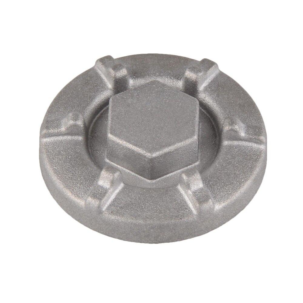 Plata Tap/ón de Protecci/ón de C/árter de Aceite de Metal para ATV Y Motocicleta