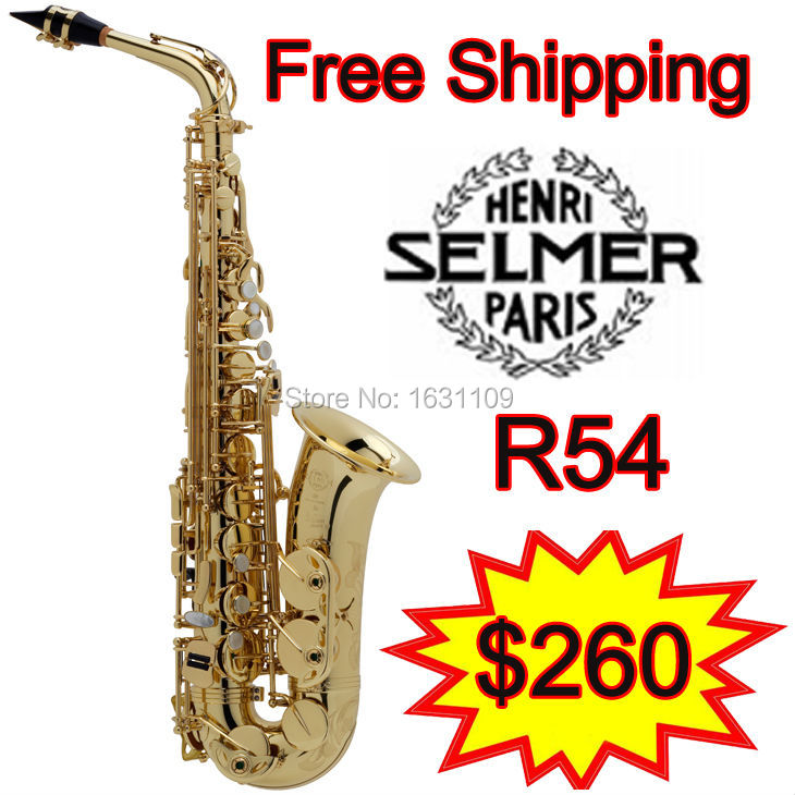 Promotions Free shipping New Genuine France Selmer Alto Saxophone R54 Professional E Sax mouthpiece With Case and Accessories brand new france selmer alto saxophone r54 professional e black white key sax mouthpiece with case and accessories