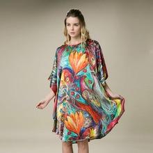 Шелк атласное платье натуральный шелк тутового шелкопряда женские платья размера плюс органическая ткань домашние платья Прямая с фабрики оптом