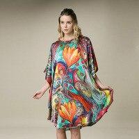 100% Silk Satin Dress Natural Mulberry Silk Women Dresses Plus Size Organic Fabric Home Dresses Factory Direct Wholesale