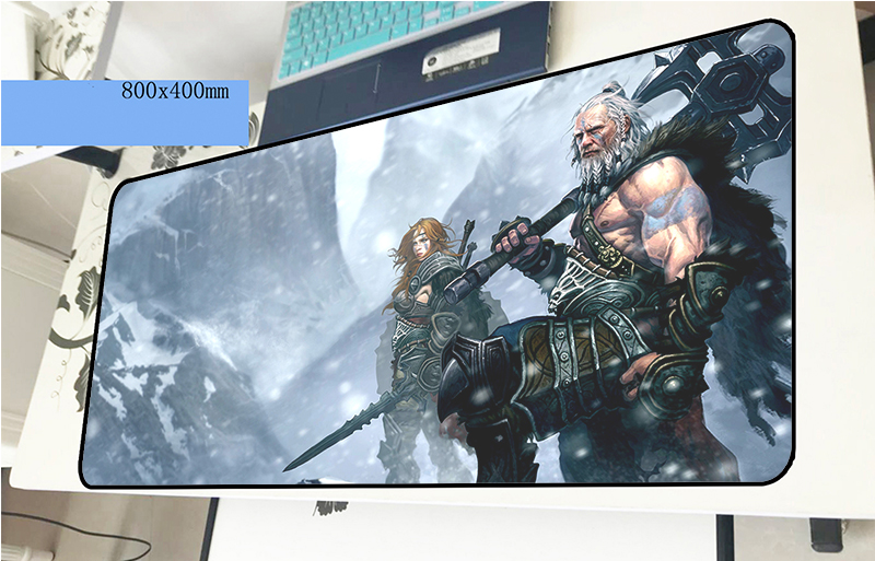 Tyrael mousepad gamer Gorgeous 800x400x2mm gaming mouse pad Cartoon font b notebook b font pc font
