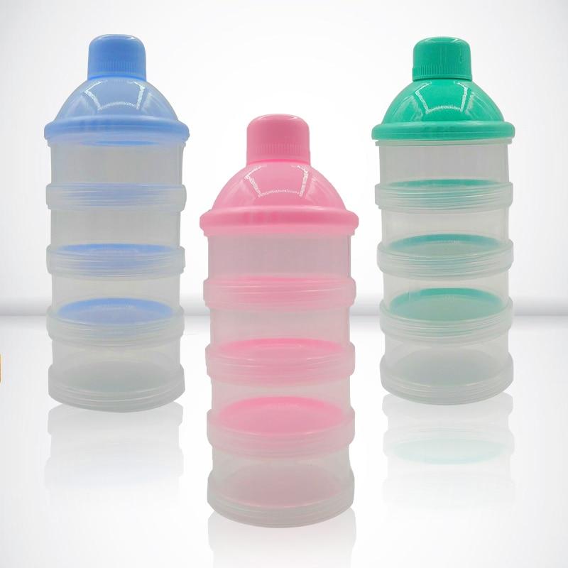Portable Milk Powder Formula Dispenser Food Container Storage Feeding Box For Baby Kids Toddler Four Grid Baby Food Storage Box