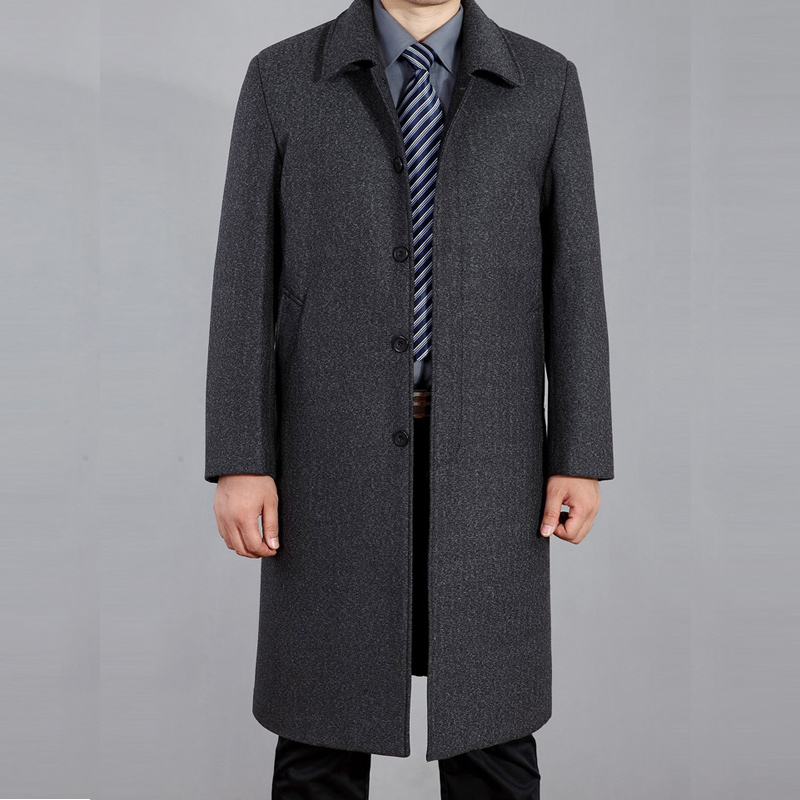 New Men's Woolen Jackets Autumn Man Wool Overcoat Autumn Turn-down Collar Casual Men Jacket Coats For Men