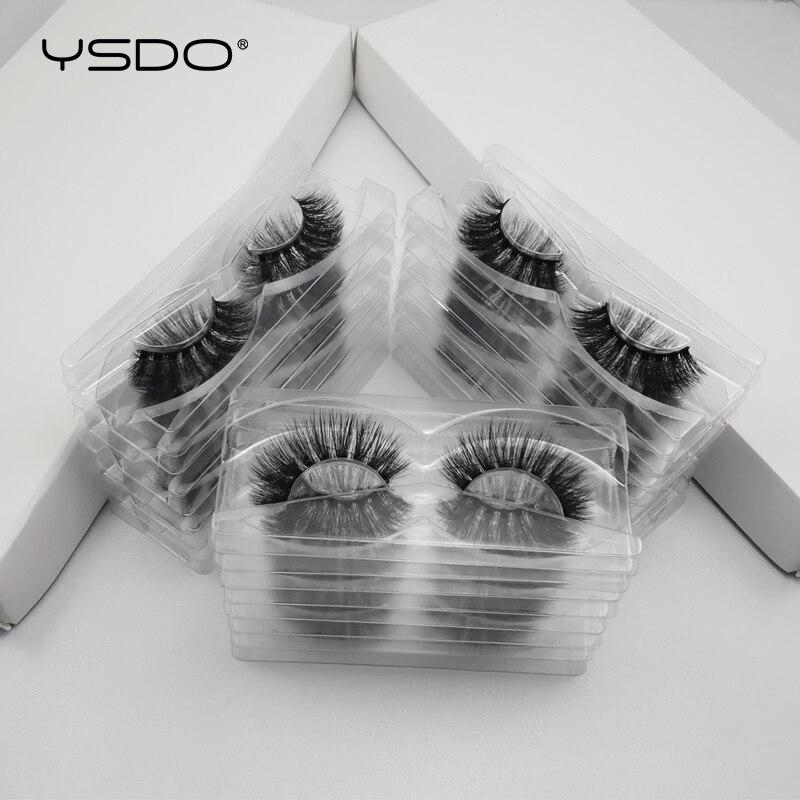 50 Pairs Wholesale Hand Made Mink Eyelashes 100% Cruelty Free With Tray No Box Natural Long 3d Mink False Eyelashes Cilios