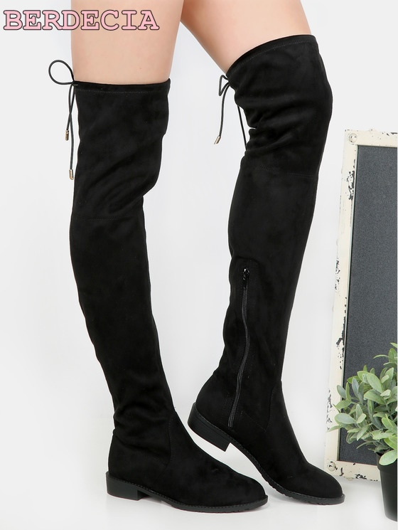 High quality over the knee high women boots lace up black suede leather flat boots fit concise shoes for wowan free shipping brand designer faux leather strappy roman goth gladiator thong lace up bandage sandals knee high boots flat shoes free shipping