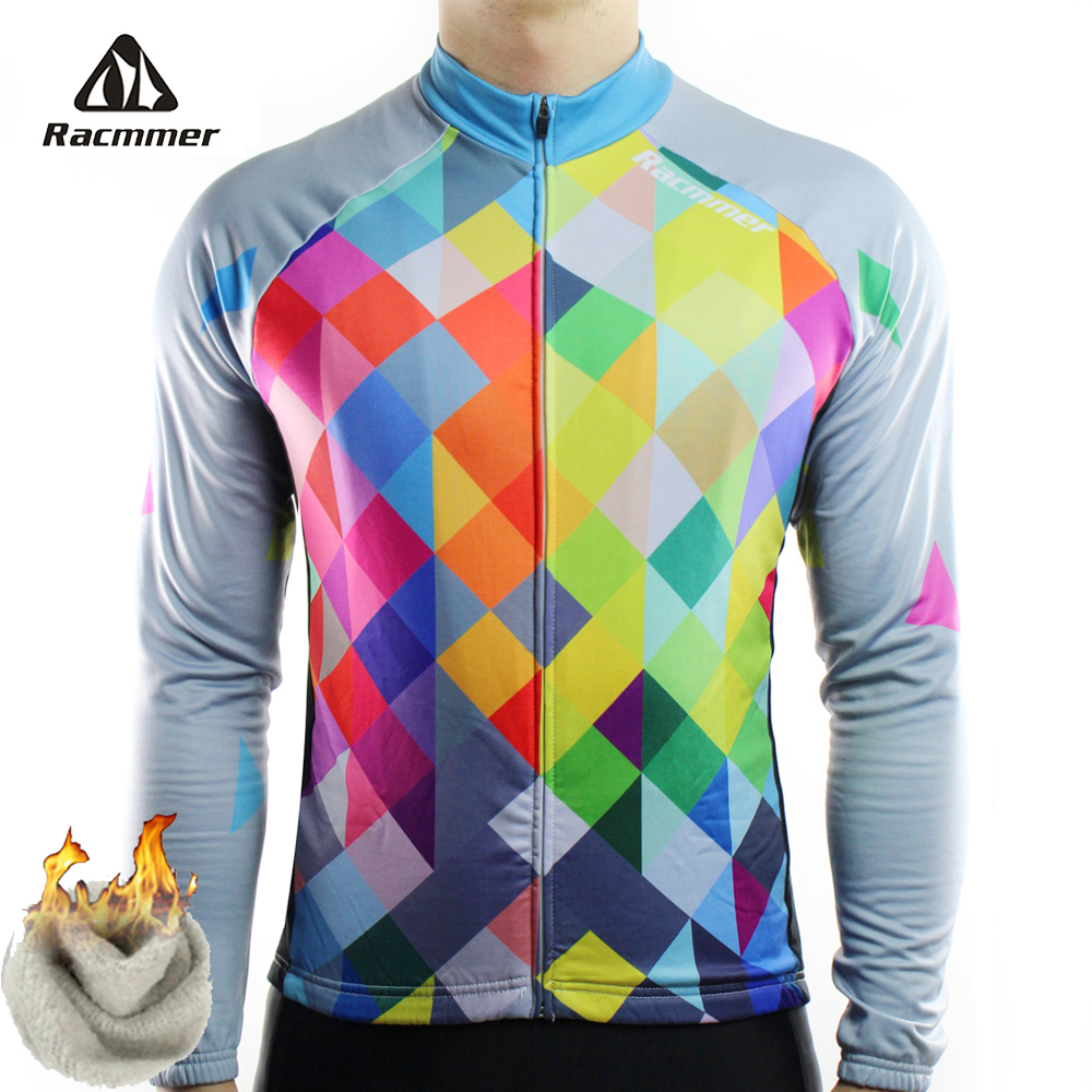 Racmmer Warm 2019 Pro Winter Thermal Fleece Cycling Jersey Ropa Ciclismo Mtb  Long Sleeve Men Bike 86656eabe