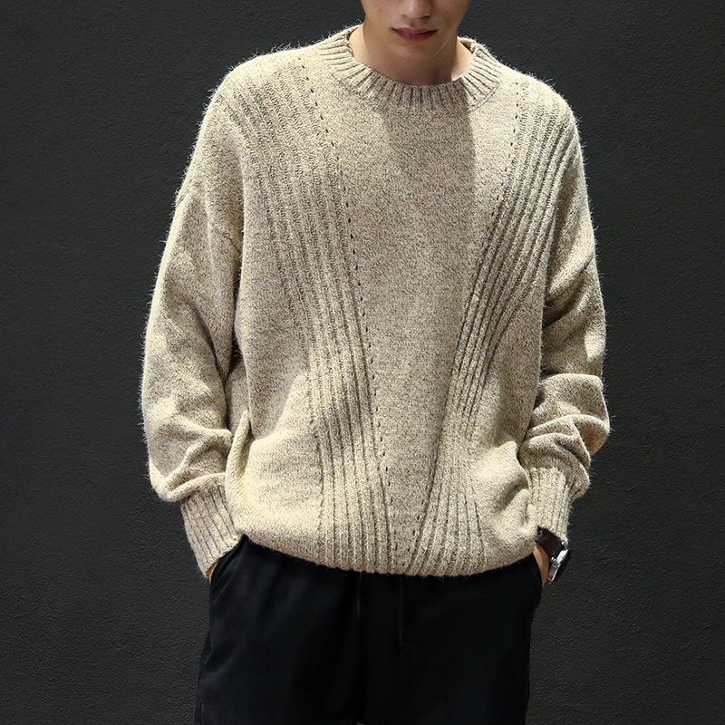 2019 New Winter Men'S Wool Sweater 4XL Striped Design Casual Sweater Men's Slim Fit Knitted Pullovers Plus Size M-5XL M8679