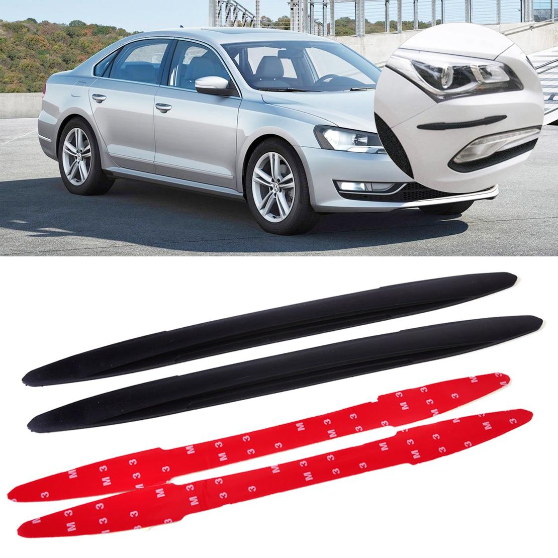 2PCS Universal Front /& Rear Car Bumper Protector Corner Guard Scratch Sticker
