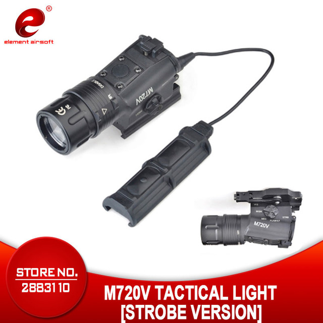 Airsoft Element Softair Weapon M720V Tactical Flashlight Strobe Output  Tactical Gun Light with M93 Tactical Light  EX273