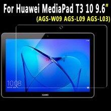 Для Huawei MediaPad T3 10 9.6 дюймов AGS-W09 AGS-L09 AGS-L03 закаленное Стекло ультра-тонкий Ясно царапинам Экран протектор