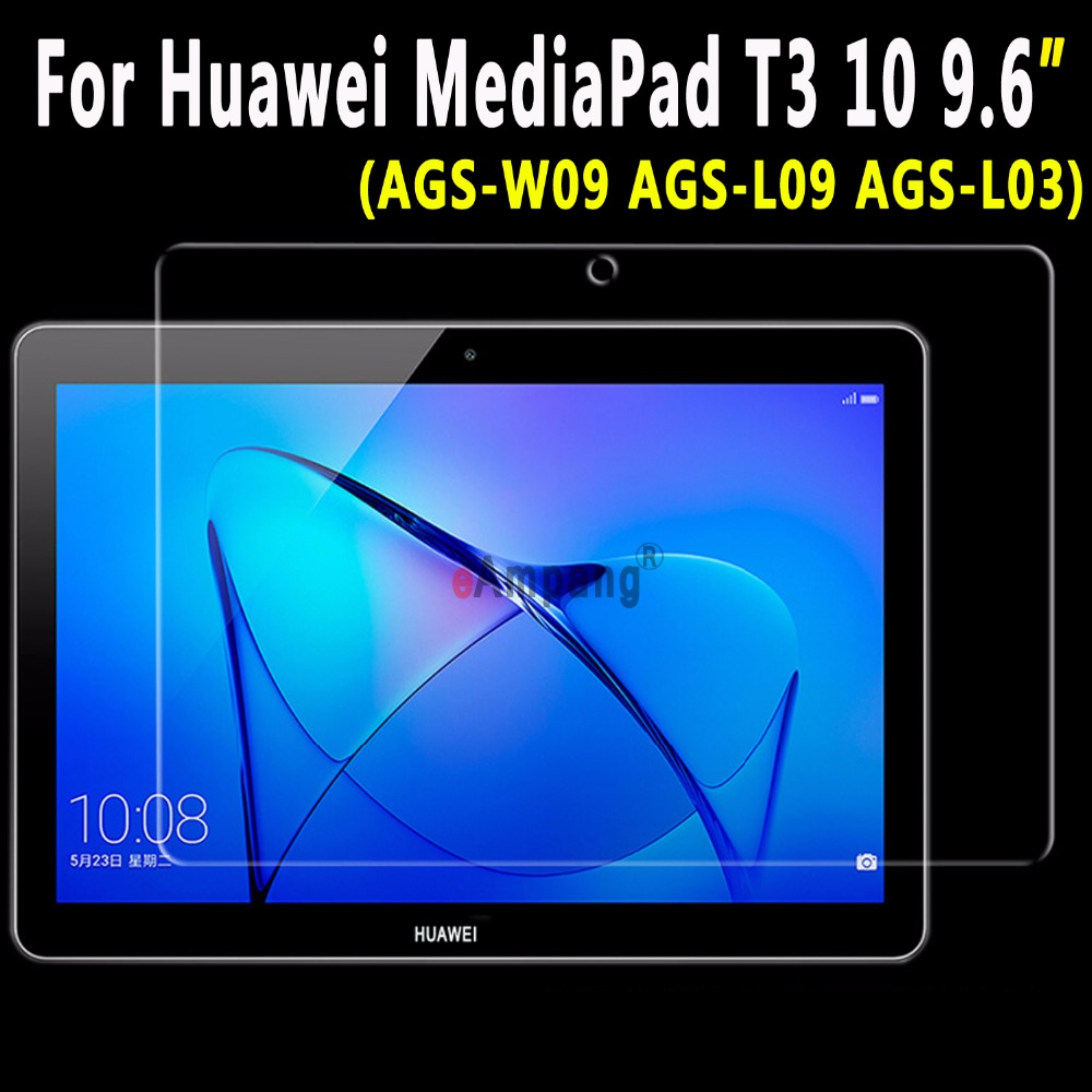 For Huawei MediaPad T3 10 9.6 AGS-W09 AGS-L09 AGS-L03 Tempered Glass Ultra-thin Clear Scratch Resistant Screen Protector