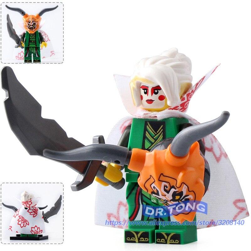 Dr.tong 20pcs/lot A007 Ninja Figures Harumi Building Blocks Beautiful Princess Bricks Diy Educational Toys Chidren Gifts