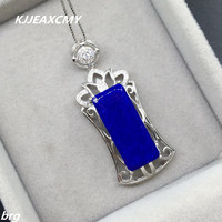 KJJEAXCMY boutique jewelry,Natural lapis lazuli ladies 925 silver pendant