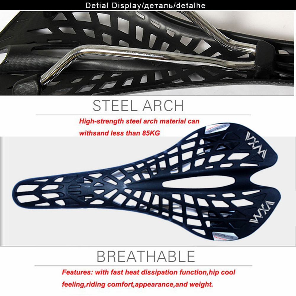 VXM Bicycle Saddle Breathable Spider Ergonomic Hollow Seat Mat Bicycle Seats