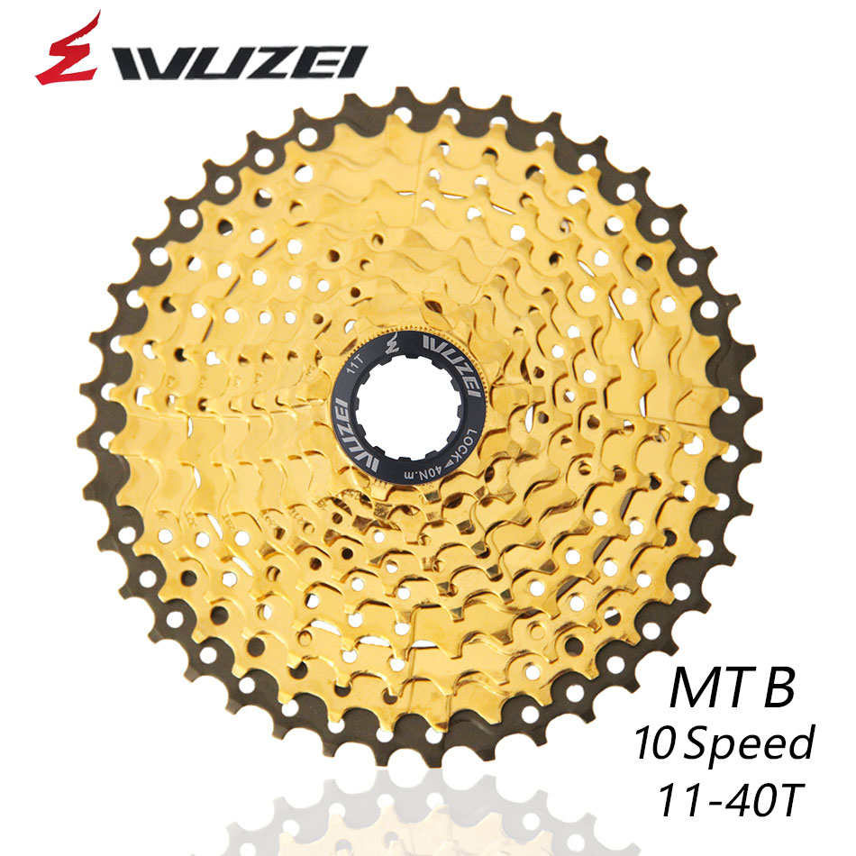 WUZEI 10S 20S 30S Speed Freewheel MTB Mountain Bike Parts Cassette Freewheel Golden 11-40T for Parts M6000 M675 M780 M975 X5  K7WUZEI 10S 20S 30S Speed Freewheel MTB Mountain Bike Parts Cassette Freewheel Golden 11-40T for Parts M6000 M675 M780 M975 X5  K7