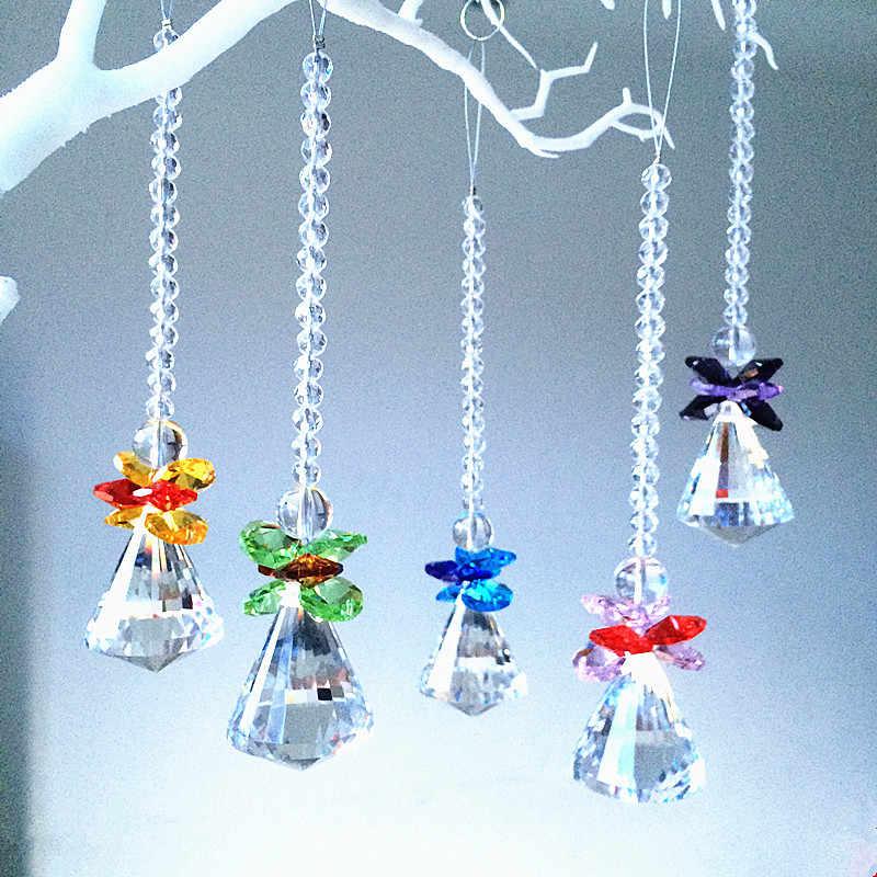 Colgante de cristal Colector solar Colgante colgante Prismas de p/éndulo para la decoraci/ón de la ventana del hogar de Navidad