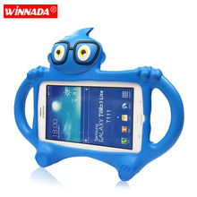 Tablet Case for Samsung Galaxy Tab 3 7.0 T110 T111 T230 P3200 7 inch Non-toxic EVA kids Cute Cartoon 3D Protective cover стоимость